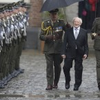 President Michael D Higgins inspecting the troops on the day of his inauguration. Pic: Eamonn Farrell/Photocall Ireland