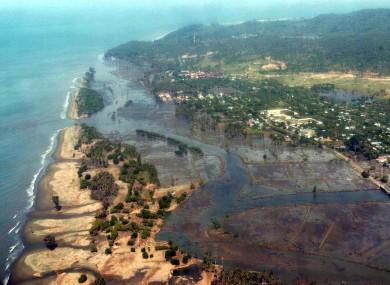 Tsunami-stricken areas near the coastal outskirts of Banda Aceh, 2004