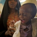 Aid agencies made a huge effort to alert us to the famine in the Horn of Africa - this child was treated for malnutrition in Dadaab, Kenya on 23 July - more than two million children were on the cusp of starving to death. (AP Photo/Schalk van Zuydam)