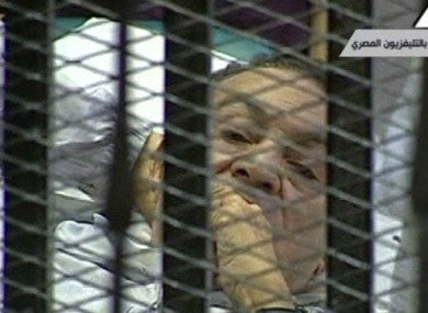 President at the start of 2011, by the years end Mubarak was on trial on a hospital bed for corruption and killing of protesters.