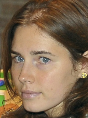 Amanda Knox looks on during an appeal trial