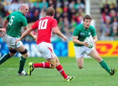 O'Driscoll during the World Cup quarter-final defeat to Wales.
