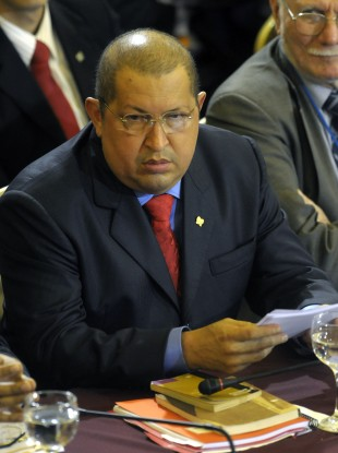 Chavez at a recent Mercosur summit in Uruguay