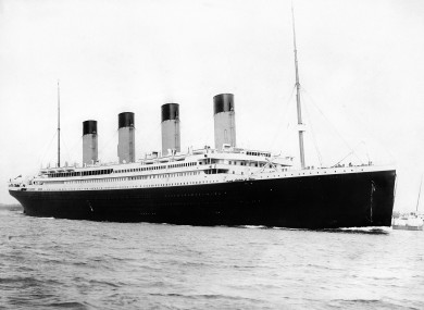 The Titanic before the disaster