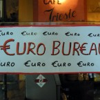 Charles Fitzgerald's pub in Dublin with its Euro Bureau, getting ready for the changeover in 2002
