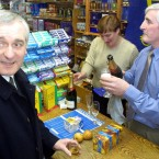 Then Taoiseach Bertie Ahern TD made his first purchase in euro at O'Neill's newsagents of Drumcondra.