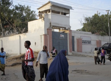 The Medecins Sans Frontieres (Doctors without Borders) compound in Mogadishu
