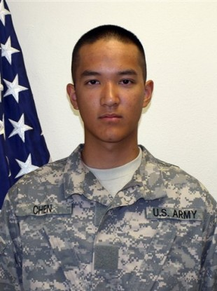 Eight soldiers have been charged in connection with the suicide of Private Danny Chen, 19.