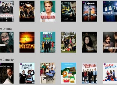 Some of the titles available on the new Netflix service in Ireland and the UK.