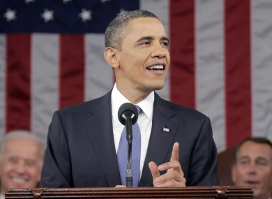 President Obama during his 2011 address to both legislative houses on Capitol Hill