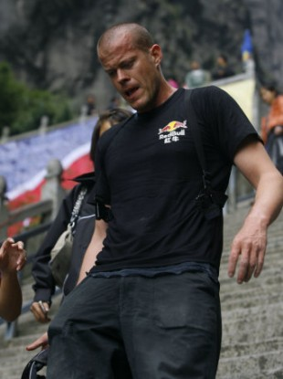 File photo of Jeb Corliss in China last year.