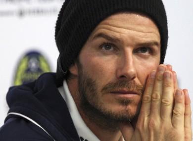 David Beckham: settled in California.