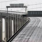 The Queen Elizabeth II Bridge in Dartford, Kent, which has been closed because of the stormy conditions. (Image: Gareth Fuller/PA Wire)