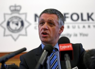 Detective Chief Inspector Jes Fry addresses the media at a press conference at Norfolk Constabulary Head Quarters