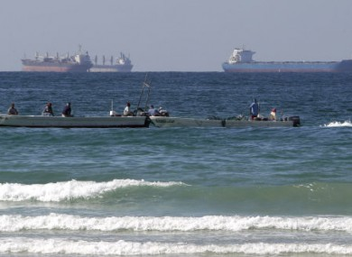Fishing boats and oil tankers south of the Strait of Hormuz, which Iran is threatening to close.