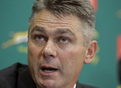 Meyer takes over from Pieter de Villiers.