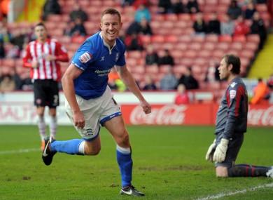 Rooney after scoring at Bramall Lane on Saturday.