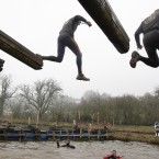 The Tough Guy event claims to be the world's most demanding one-day survival ordeal with up to one-third of the starters failing to finish in a typical year. (AP Photo/Jon Super/PA Images)