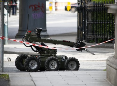 File photo of an Army Bomb Disposal Unit vehicle. The unit has been called to Drumcondra this afternoon.
