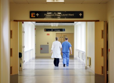 A corridor at Connolly Hospital