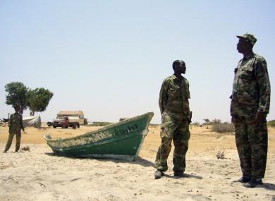 Somali coastguards