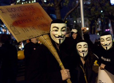 The Guy Fawkes mask has come to symbolise the Anonymous hacking movement.