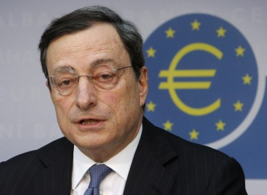 Head of the ECB Mario Draghi speaking in Germany earlier this month