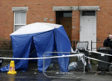 The scene in Cabra, Dublin where Mawere's body was found on Sunday