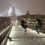 Trying to make a noise on the Millennium bridge next to St Paul's cathedral in London this week. Image: Jeff Moore/Empics Entertainment/PA Images