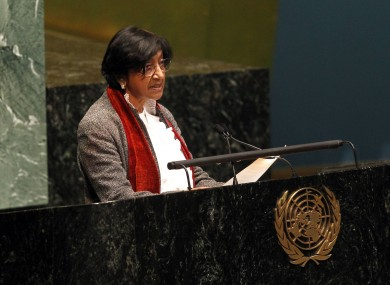 The UN's High Commissioner for Human Rights Navi Pillay l