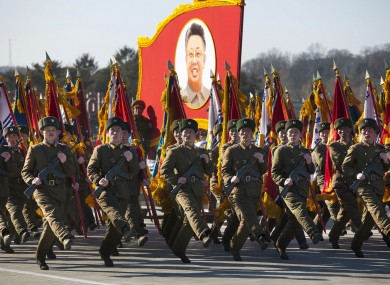 in pictures north korea s military parade in honour of kim jong il