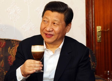 Chinese vice-president Xi Jinping samples an Irish coffee during his visit to Ireland