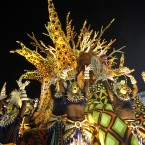 Colourful performers from the Unidos da Vila Isabel samba school. (AP Photo/Victor R Caivano/PA Images)