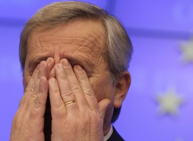Jean-Claude Juncker announcing the €130bn bailout for Greece earlier this week