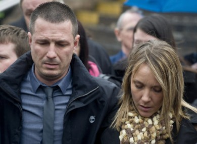 The parents of murdered teenager Nikitta Grender, Paul Brunnock and Marcia Grender outside Newport Crown Court today.
