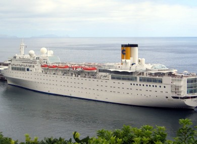 The Costa Allegra cruise ship in Genoa's harbour in Italy (File photo)