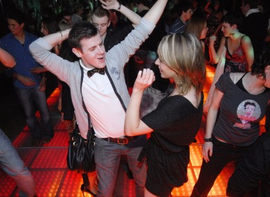 Revellers at a nightclub in Dublin