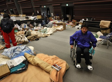 Eiji Kawabata, 33, said his legs were injured when he was washed away by the tsunami while driving his car