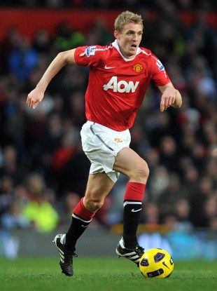 Fletcher in action for United.