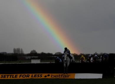 Greatwood Charity Raceday at Newbury Racecourse earlier today.