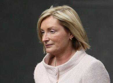 Celia Larkin leaving the Mahon Tribunal in 2007.