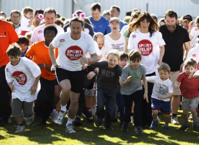 Prime Minister David Cameron at a charity event today.