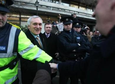 Former Taoiseach Bertie Ahern outside Mahon in December 2007.