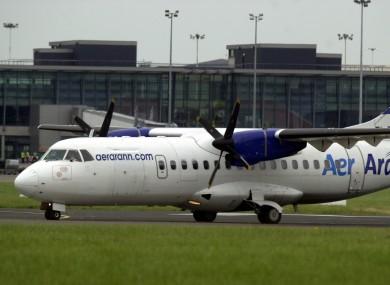 An Aer Arann plane at Dublin Airport