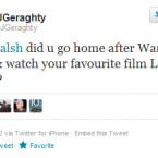 War Horse is a tear-jerker, you can't blame Ruby for wanting a good giggle at Hugh Grant afterwards.