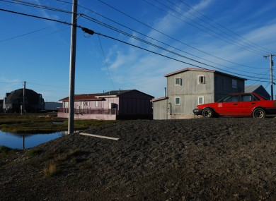 General view of homes in Barrow, Alaska