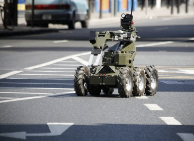 File photo of equipment used by the army bomb disposal team