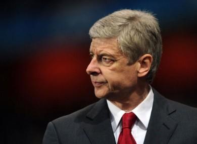 Arsene Wenger: not happy.