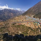 One of the world's most dangerous airports and the starting point for many visitors to the Himalayas. (Image via AirPano.com)