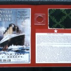 Framed fragments of carpet yarn from the Titanic coupled with a certificate of authenticity are being sold by the Titanic Historial Society for $1,100.